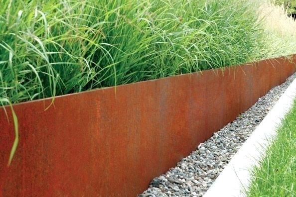 Corten Steel Retaining Wall Steel Retaining Wall Corten Steel Retaining Wall Cost Steel Garden Edging Garden Edging Metal Garden Edging