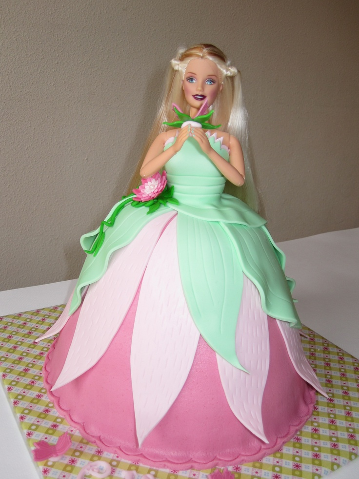 Make my Day kids likes this Flower prinses cake for a girls party