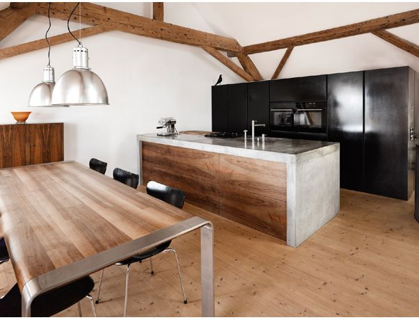 Beton-Design erobert die Küche