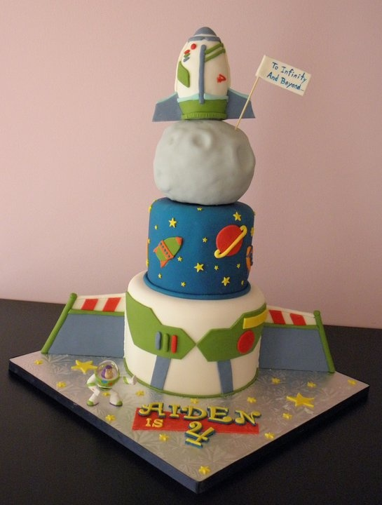 28 best images about buzz lighyear party on pinterest for Cake decorations outer space