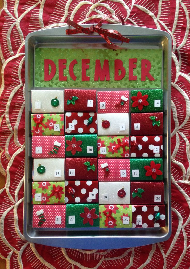 Matchbox Magnetic Cookie Sheet Advent Calendar by TwoCatsCalendars on Etsy https://www.etsy.com/listing/474301504/matchbox-magnetic-cookie-sheet-advent