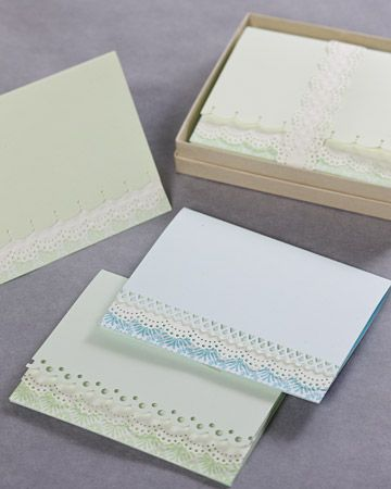 SIMPLE and so pretty....3 layers of paper, two punched with edge punches...how quick!