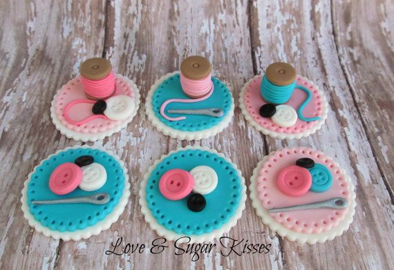Fondant Topper Sewing themed by lovesugarkisses on Etsy, $36.00