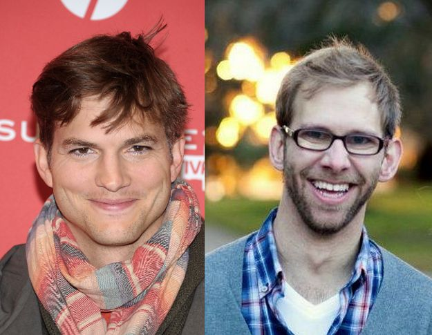 Ashton and Michael Kutcher | 15 Celebrities You Might Not Know AreTwins