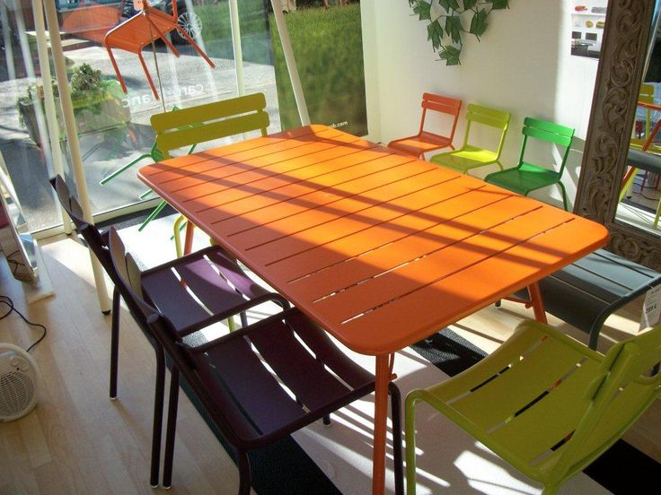 Ensemble de jardin luxembourg fermob boisoleil la baule - Table fermob cargo ...