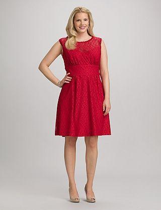 Dress barn red lace dress