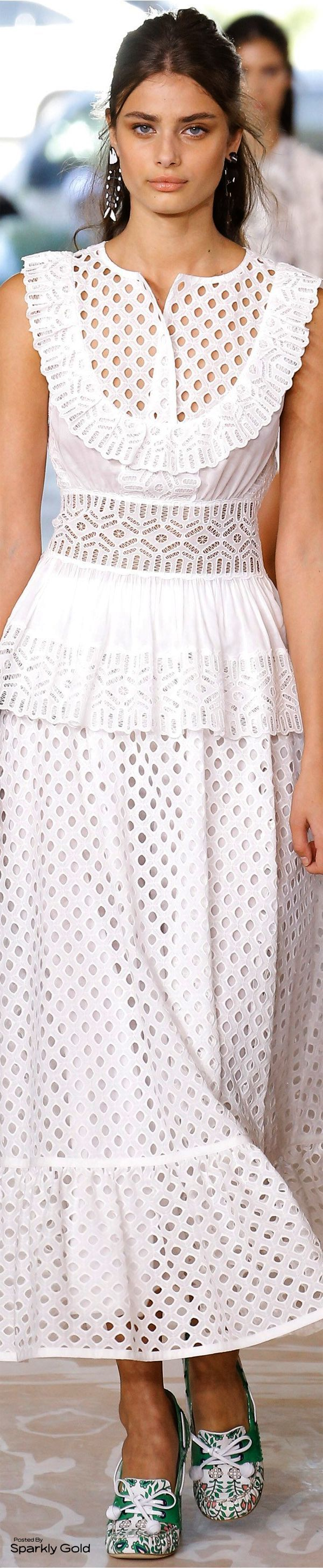 I don't normally like Tory Burch, but the shape of this dress looks like it would be very flattering and cute. #spring_style_petite