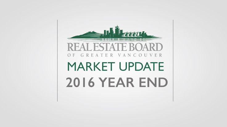 2016 Year End Housing Market Update  - The Real Estate Board of Greater ...