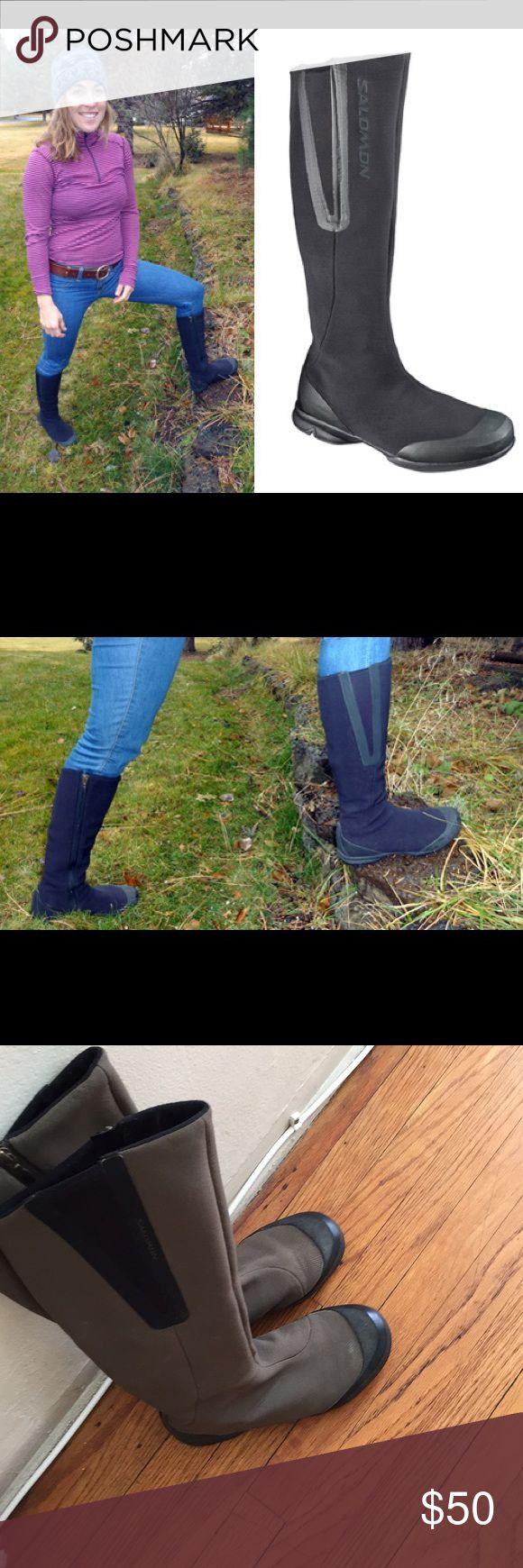 SALOMON Nice women boots 👢 green and black SALOMON Shoes Winter & Rain Boots