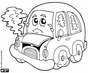 Omalovánka Auto členění
