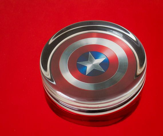 Solid Glass Round Captain America by UnofficiallyOriginal on Etsy