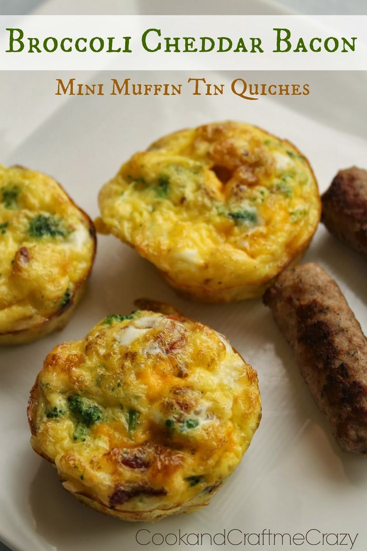 Cook and Craft Me Crazy: Broccoli Cheddar Bacon Muffin Tin Quiches