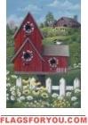 Birdhouse Barn Garden Flag