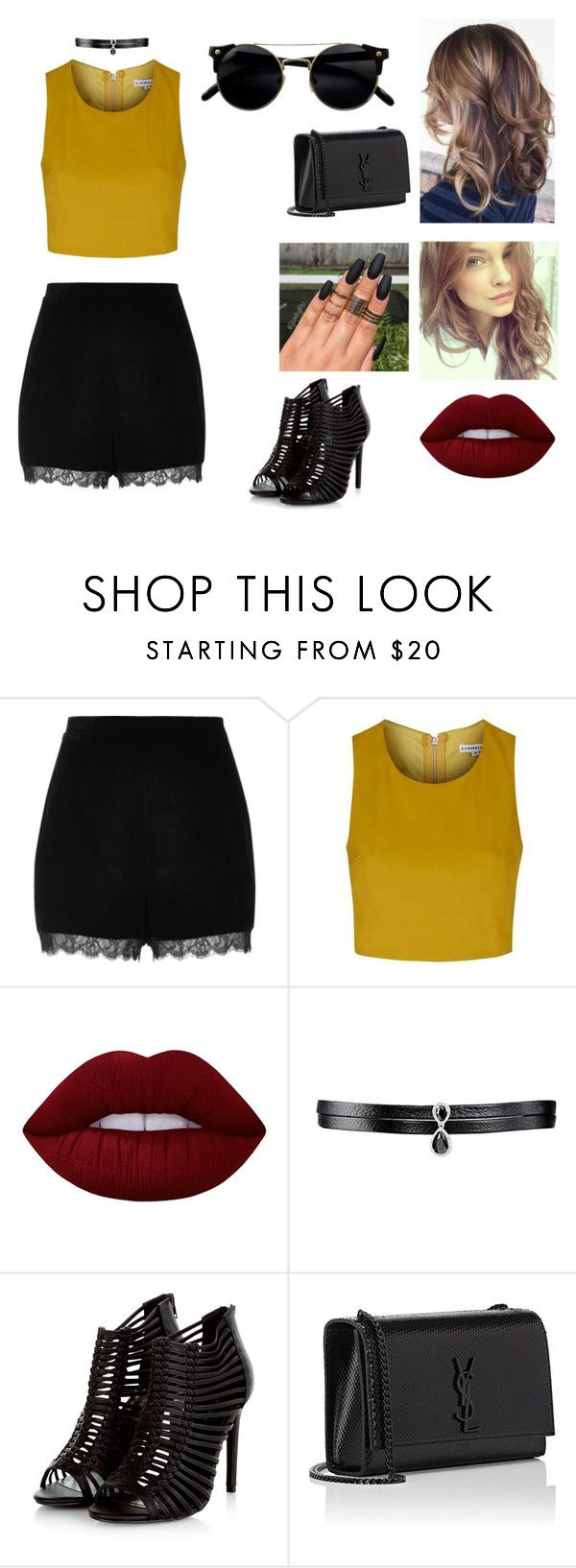 """""""ALAYLM"""" by julia-poldervaart ❤ liked on Polyvore featuring River Island, Topshop, Lime Crime, Fallon, Justin Bieber and Yves Saint Laurent"""
