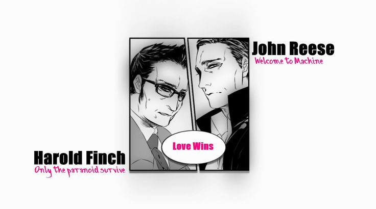 Person of Interest - Finch and Reese. Rain