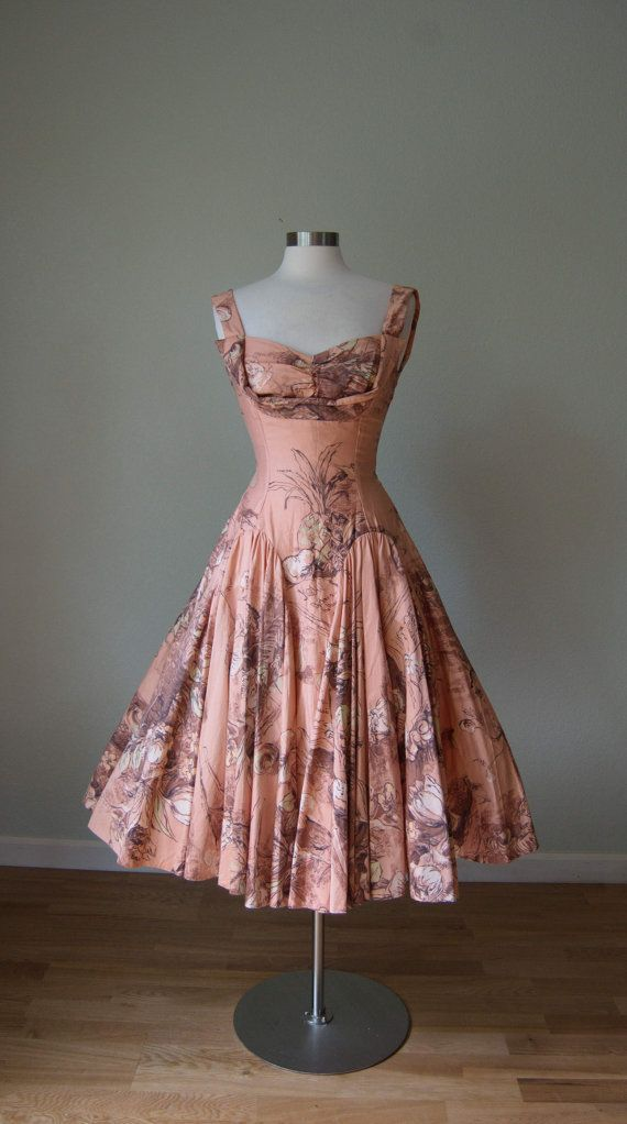 1950s Marjae Miami Cotton Novelty Print by KittyGirlVintage