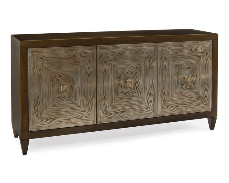 Faux Bois Three-Door Credenza - Cabinets - Furniture - Our Products