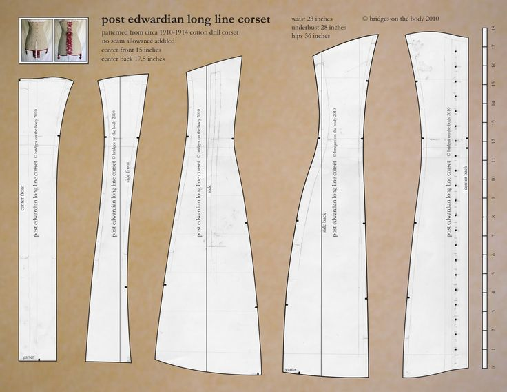 1911 Edwardian Titanic corset pattern and instructions.