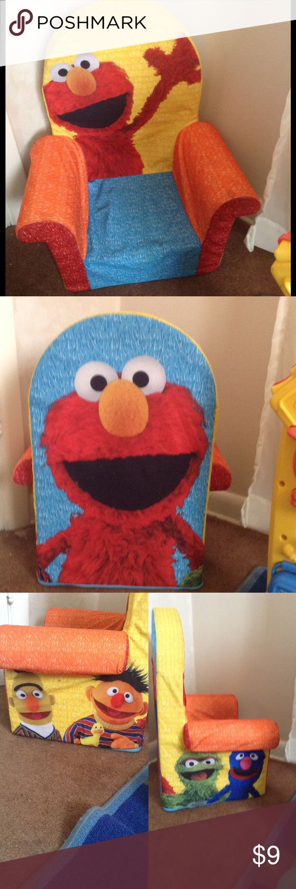 Baby/Toddler Elmo chair Adorable lightweight chair for a little one ☺️💕 Sesame Street Accessories