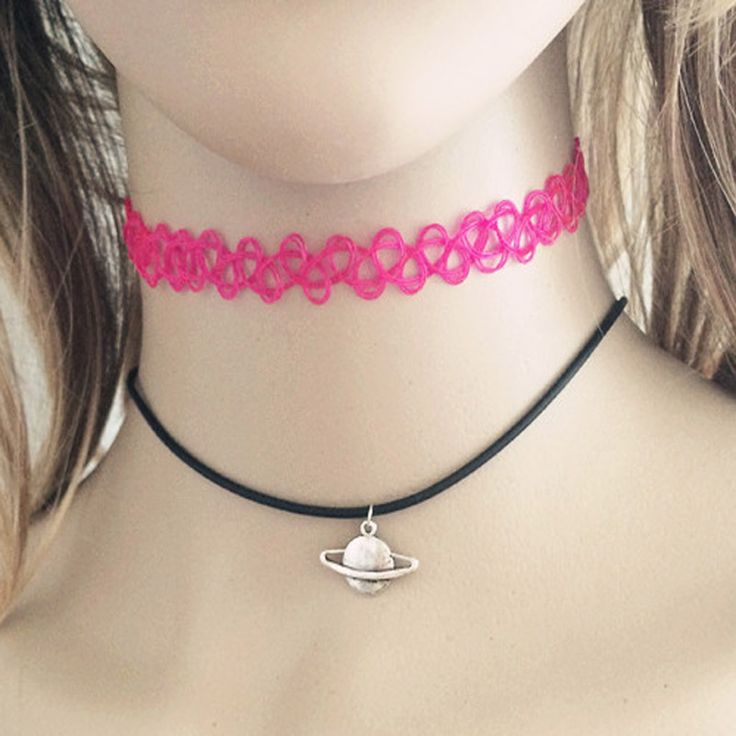 Fashion accessories jewelry New Fishing Line Tattoo moon heart rope leather necklace DIY gift  for women girl wholesale N1634