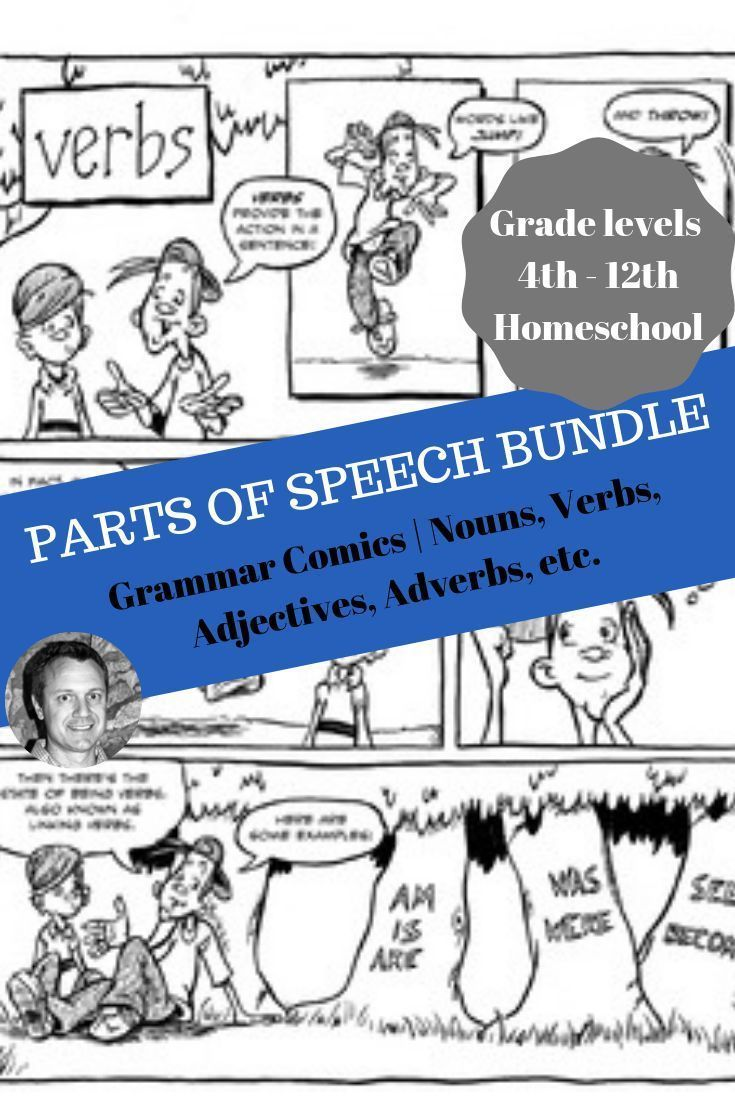 Parts of Speech bundle: Grammar Comics   Nouns [ 1102 x 735 Pixel ]