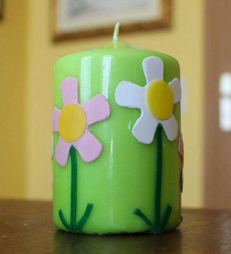 decorare candele con fogli di cera - Cerca con Google