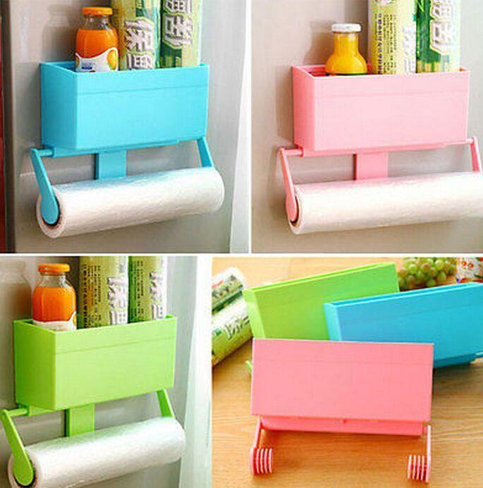 Fd2175 Kitchen Oven Fridge Magnetic Towels Cling Film Holder Storage Rack Shelf
