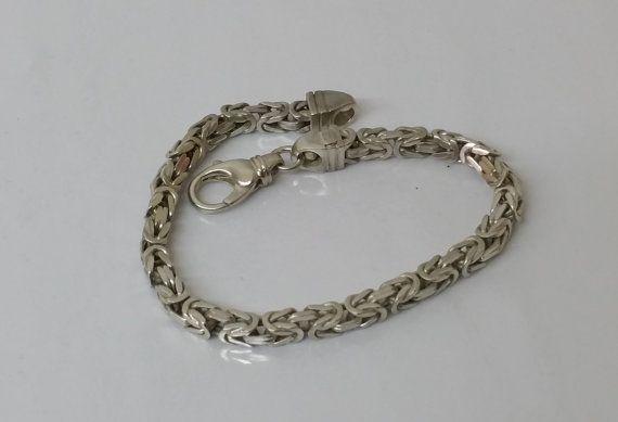 925 Silber Königskette/Armband 20 cm 43 mm SA238 von Schmuckbaron