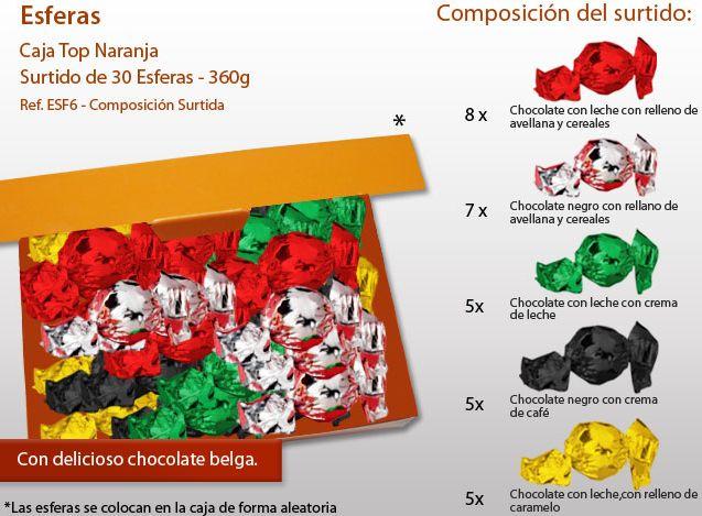 ¿Has visto nuestras bolas de chocolate? ¡Puede personalizar el surtido y la caja!