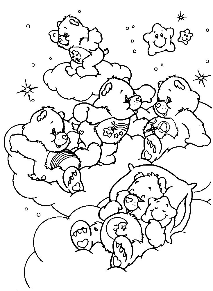 sad care bear coloring pages | 234 best Coloring - Cartoon Characters images on Pinterest ...