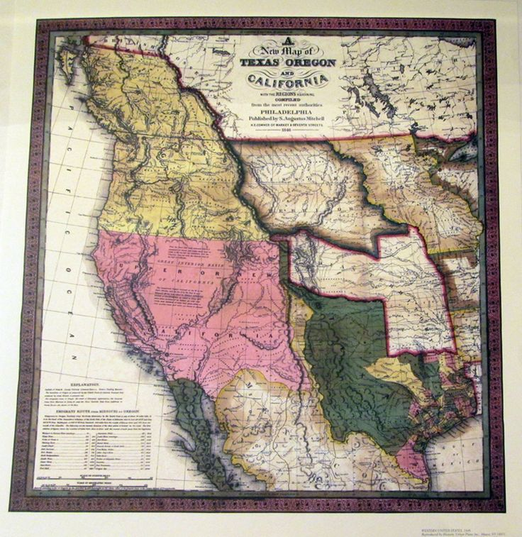 Western US in 1846 44 best Seattle