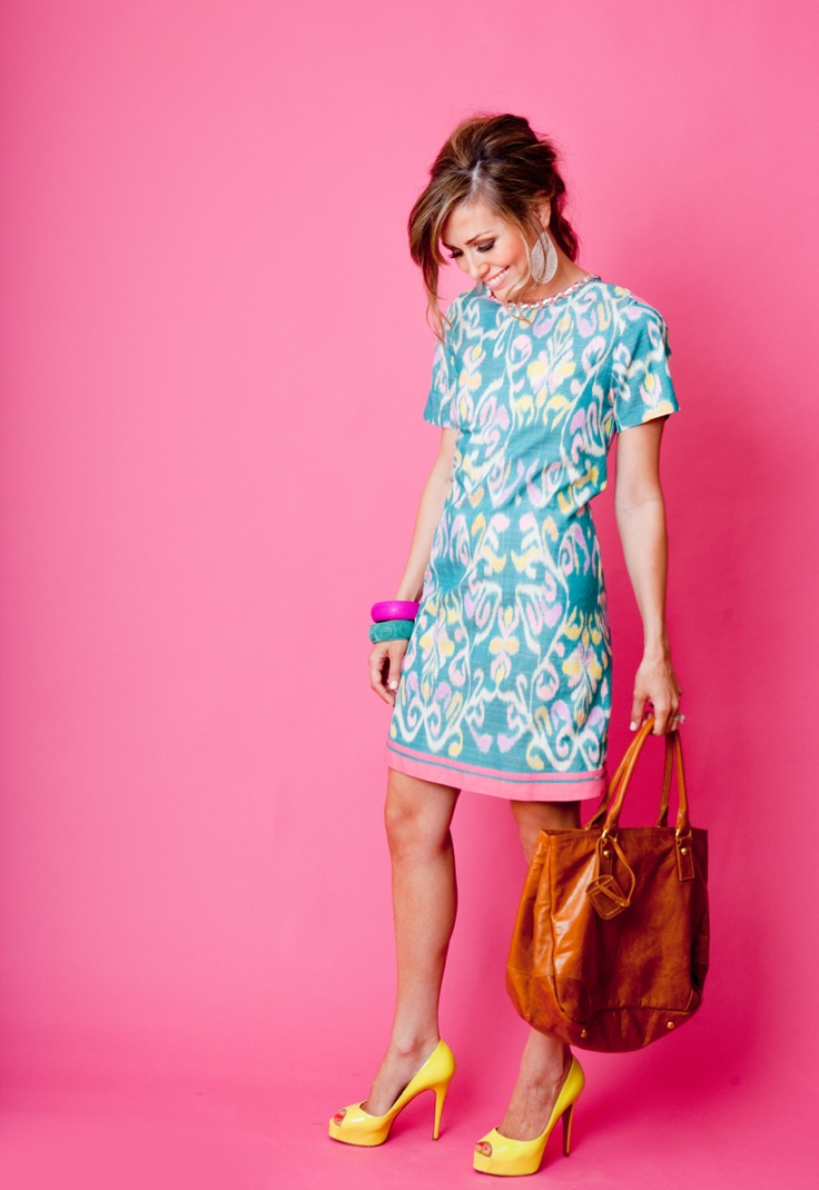 www.sheridanfrench.com: Fashion, Style, Color, Outfit, Dresses, The Dress, Yellow Heels, Sheridan French, Summer Clothes