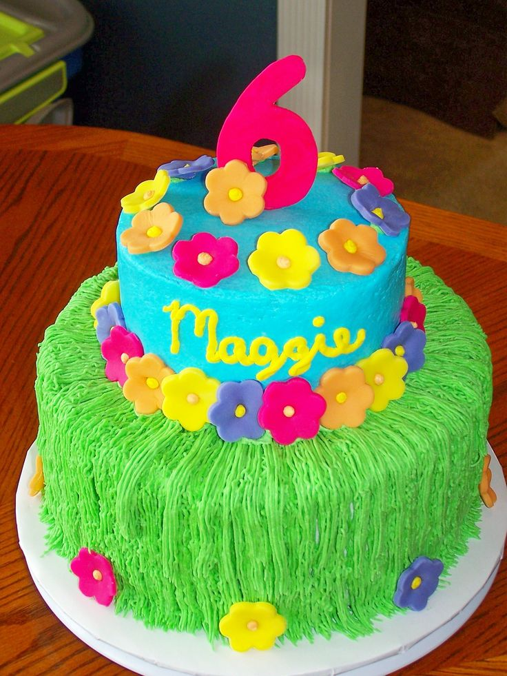 luau birthday cakes | Maggie's Luau — Children's Birthday Cakes