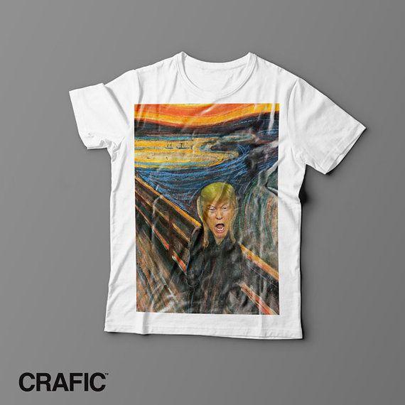 Donald Trump Scream T-shirt scream Edward munch funny tshirt funny