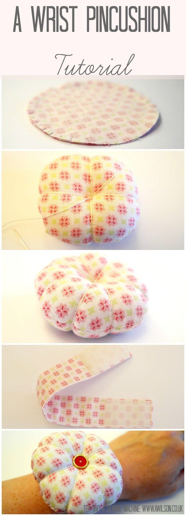 how to make a wrist pincushion tutorial                                                                                                                                                                                 Más