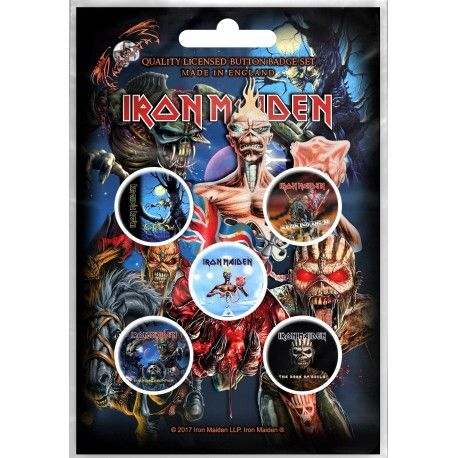 Iron Maiden: Later Albums (set insigne - 5 buc.)