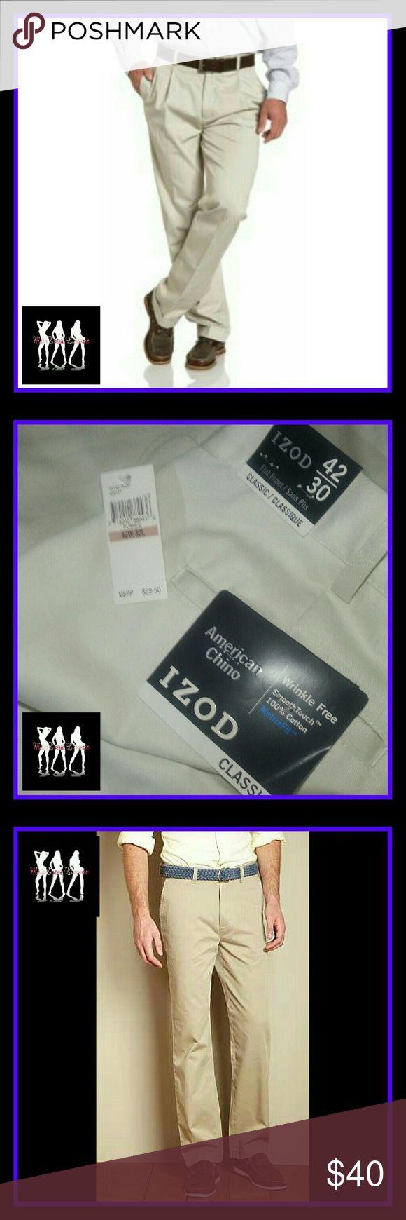 Izod American Chino mens pants (size: 42) Brand New and never worn. Very fashionable & stylish. Izod Pants Chinos & Khakis