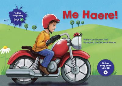 """This children's picture book is in te reo Maori. It includes a CD with songs. No prior knowledge of te reo Maori is required by the children or adults using this book. The story and song are about vehicles and colours with phrases such as """"I am going by orange truck"""". Listening to the song while reading the book will help readers match sounds with words and actions."""