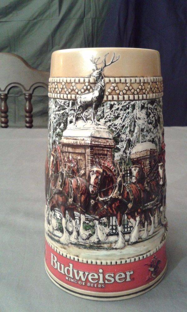 Anheuser Busch Inc.Clydesdale Budweiser Kings Of Beers Stein Handcrafted