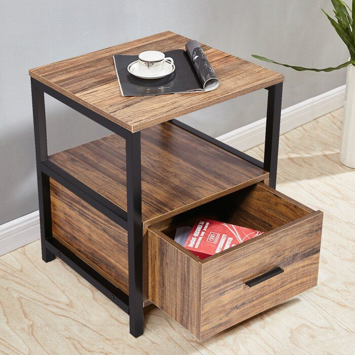 Ladd 1 Drawer Nightstand In 2020 End Tables With Storage End Tables Furniture