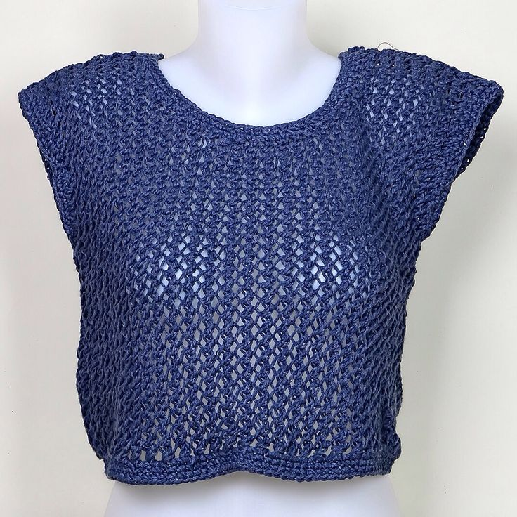 Hand knitted crop top
