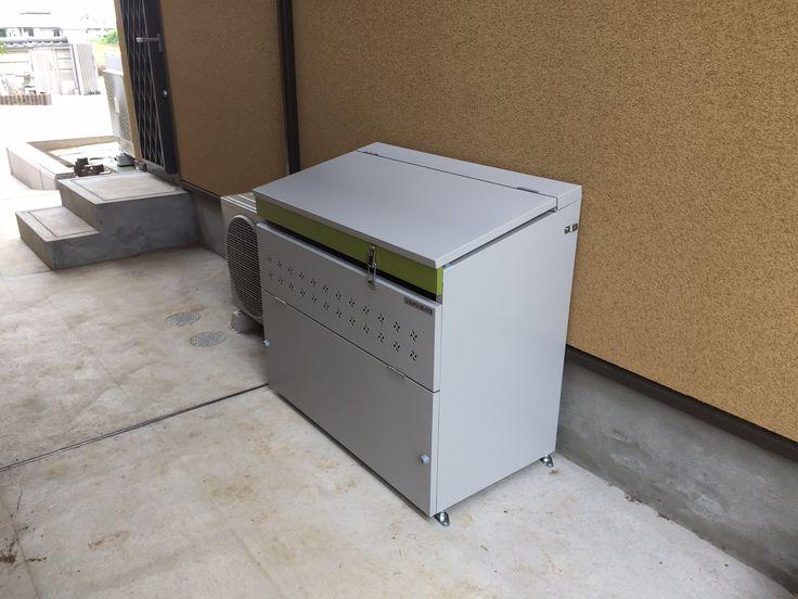 オシャレなゴミBOX。こんなデザインいままでなかったでしょ?マツモト物置SBAタイプ #マツモト物置 #ゴミ #ゴミストッカー #ダストボックス #セイリーボックス #物置 #外構 #庭 #ガーデン