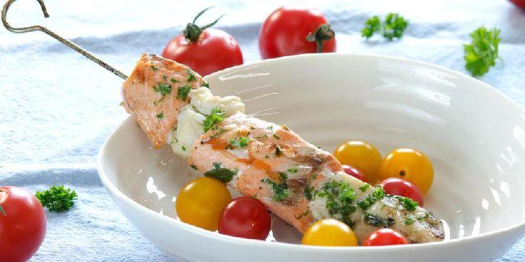 Supre grillspyd med laks og torsk - oppskrift