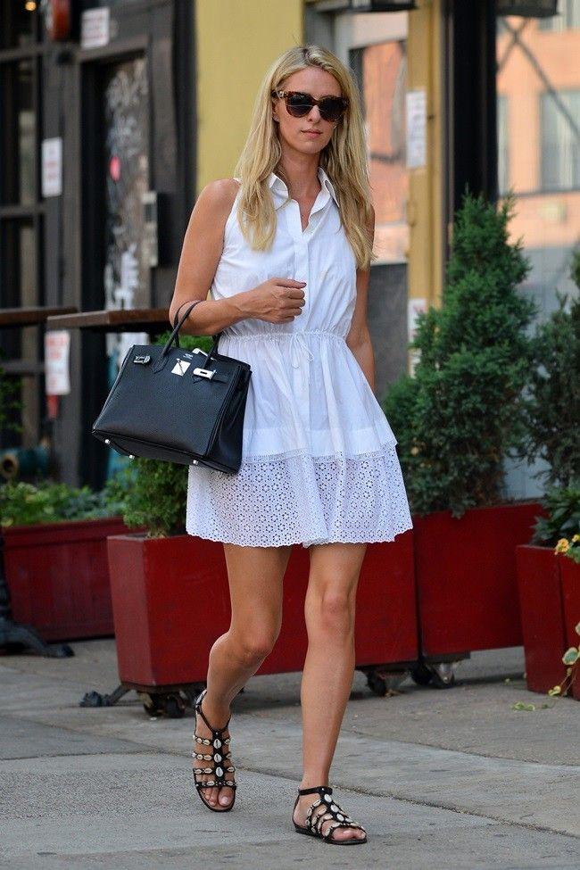 The best look for the return to work has a girl who never have to work: Nicky Hilton: Trendencias waysify