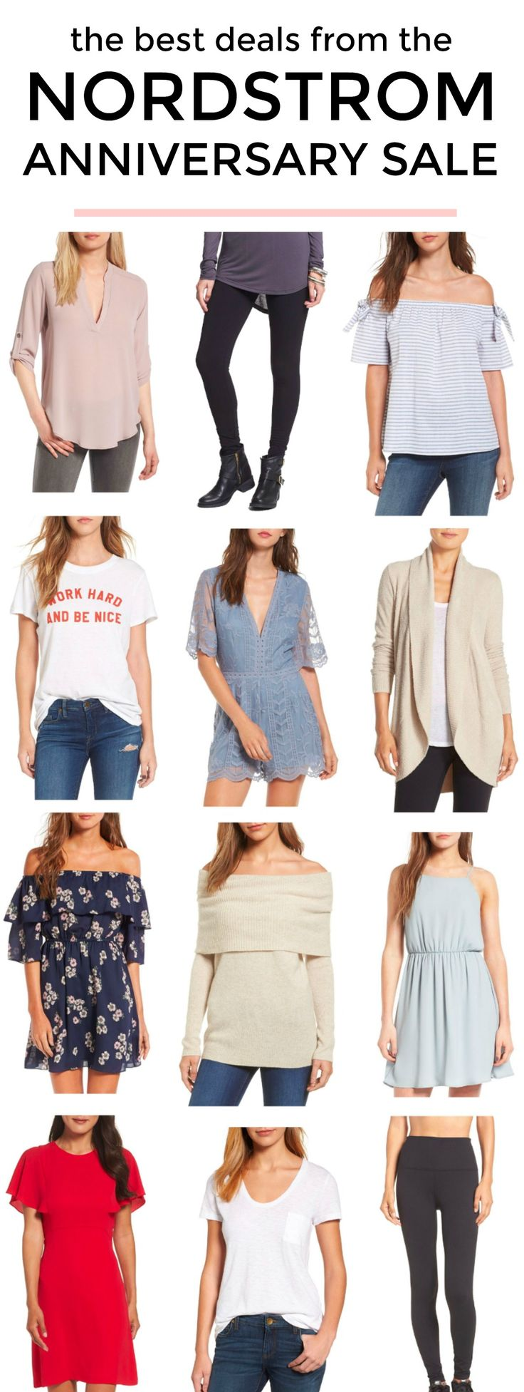 The BEST deals from the Nordstrom Anniversary Sale! So many affordable fashion finds! | Affordable outfit ideas and cute fashion items from Nordstrom curated by Orlando, Florida fashion blogger Ashley Brooke Nicholas | sale alert, Nordstrom sale, Nordstrom outfits, cute outfits, casual outfit ideas, dresses, off the shoulder sweater, Zella leggings, Barefoot Dreams cardigan