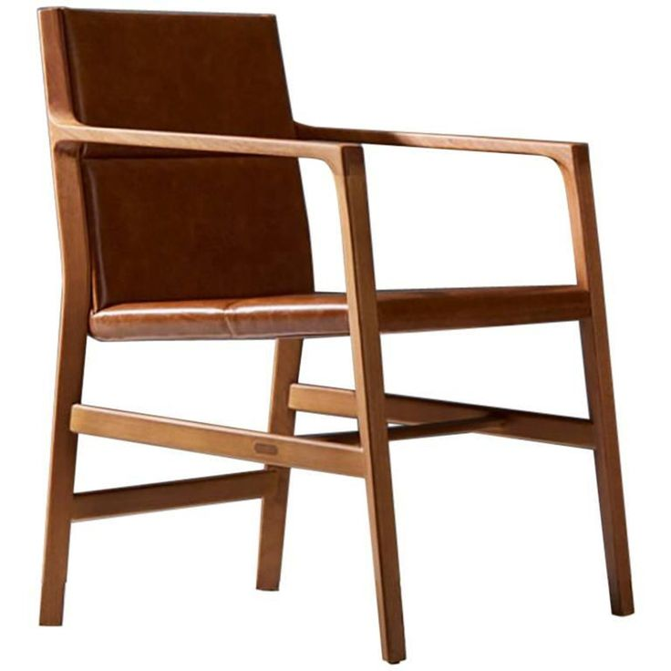 Leather Dinning Chair, Solid Wood Full Of Details And A Comfortable Seating