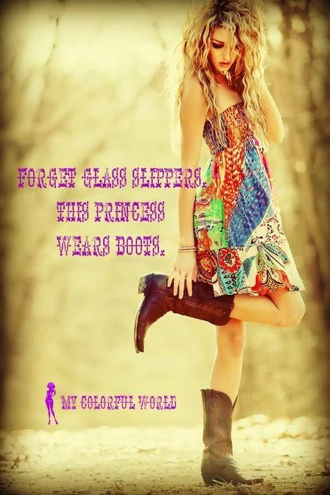 This Princess Wears Boots quotes quote country girly quotes hippie