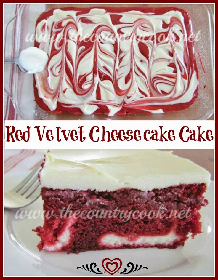 The Country Cook: Red Velvet Cheesecake Cake {made easy by using cake mix!}
