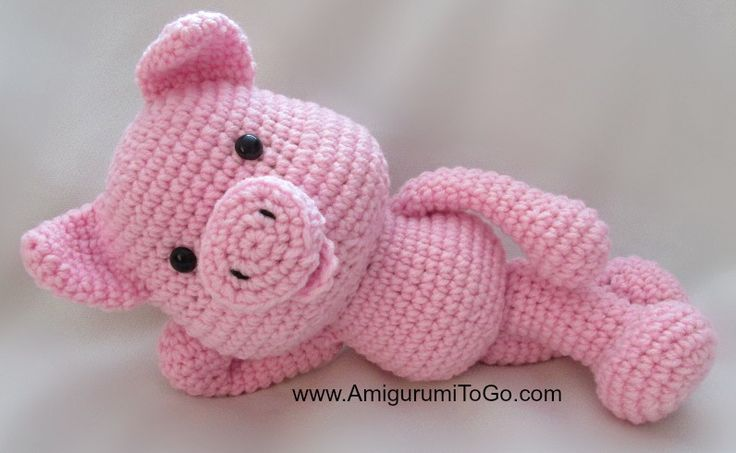 crocheted piggies   Did you know there was no plan for me? That's right, my designer had ...