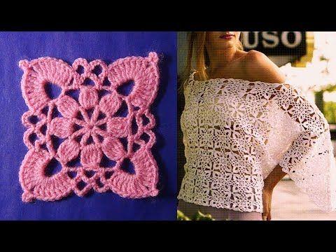 Ажурный мотив крючком и его соединение\ Openwork crochet motif {Счастливая_Рукодельница} - YouTube